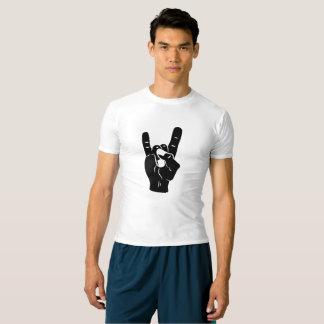 Camiseta Chifres do diabo do rolo da rocha n