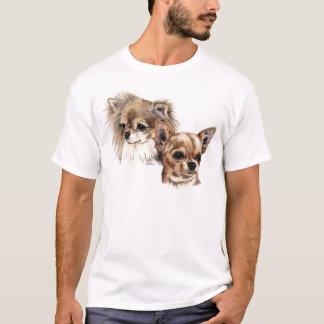 Camiseta Chihuahuas longas e lisas do casaco