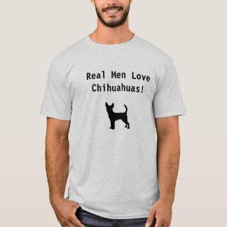 Camiseta Chihuahuas reais do amor dos homens!