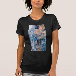 Camiseta Childe Hassam a avenida na chuva