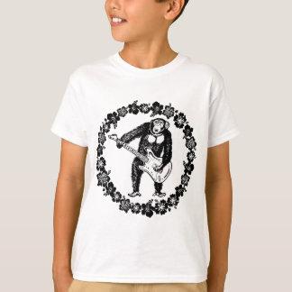 Camiseta Chimpanzé que joga a guitarra