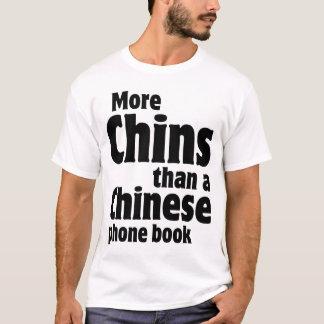 Camiseta Chin dobro - mais queixos do que uma lista