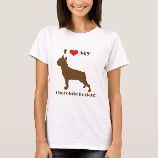 Camiseta Chocolate Boston Terrier - senhoras T