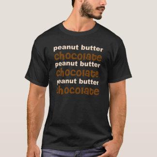 Camiseta Chocolate da manteiga de amendoim n