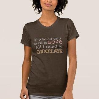 Camiseta Chocolate da necessidade (escuro)