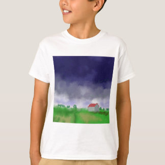 Camiseta Chuva com arte do celeiro
