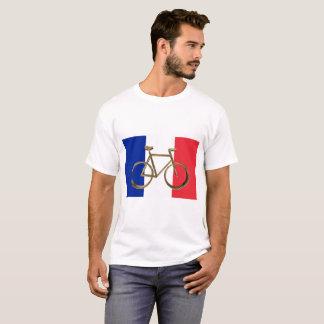 Camiseta Ciclista dourado do ciclismo da bicicleta da