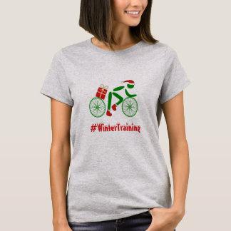 Camiseta Ciclista feito sob encomenda do xmas do texto do