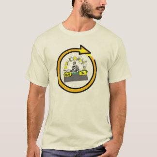 Camiseta CICLO de VIDA do DOCUMENTO do ESCRITÓRIO por