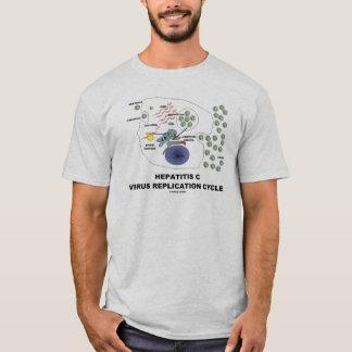 Camiseta Ciclo viral da réplica da hepatite C