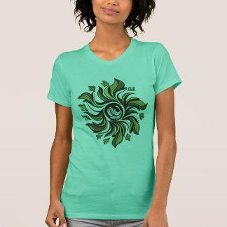 Camiseta Ciclone verde - abstrato