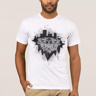 Camiseta cidade aglomerada