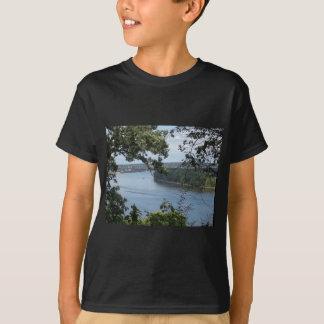Camiseta Cidade de Dubuque, Iowa no rio Mississípi