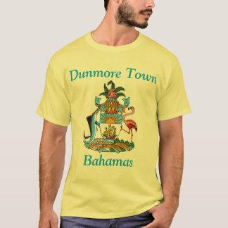 Camiseta Cidade de Dunmore, Bahamas com brasão