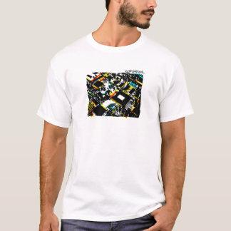 Camiseta cidade do cartão-matriz