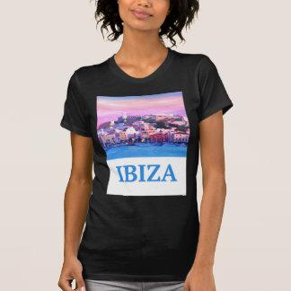 Camiseta Cidade e porto velhos de Ibiza do poster retro