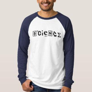 Camiseta Ciência científica dos símbolos