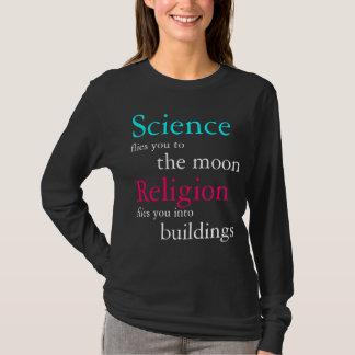 Camiseta Ciência contra a religião