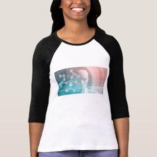 Camiseta Ciência médica do futuro com molécula Backgr