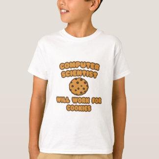 Camiseta Cientista de computador. Trabalhará para biscoitos