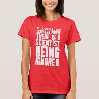 Camiseta cientista que está sendo ignorado