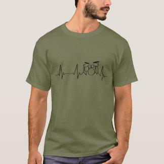 Camiseta Cilindros batendo da pulsação do coração | do