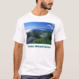 Camiseta Cimeira da fome da montagem, montanhas verdes