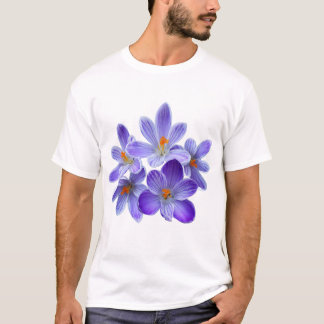 Camiseta Cinco açafrões violetas 05,0, cumprimentos do