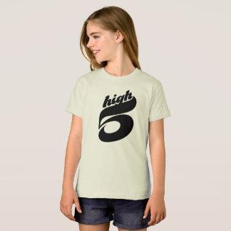 Camiseta Cinco altos t-shirt orgânico para meninas