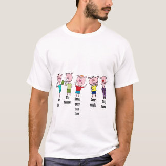 Camiseta Cinco piggies pequenos