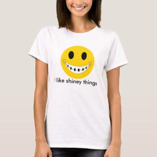 Camiseta cintas, eu gosto de coisas brilhantes
