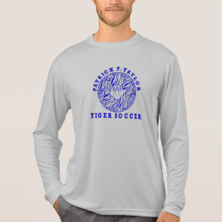 Camiseta Cinza 2017 longo da luva do futebol de PFT