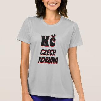 Camiseta Cinza checo da coroa de Kč