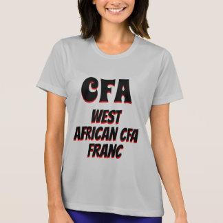 Camiseta Cinza da África Ocidental do franco do CFA CFA