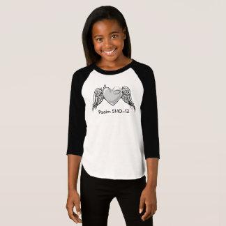 Camiseta Cinza da juventude das meninas do salmo 51