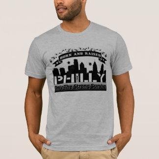 Camiseta Cinza da urze dos homens, nascer e T aumentado de
