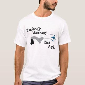 Camiseta Cinza do pontapé dos vulcões de Islândia