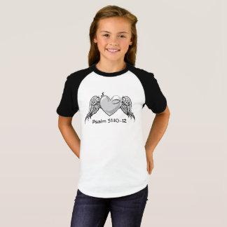 Camiseta Cinza do T da juventude das meninas do salmo 51