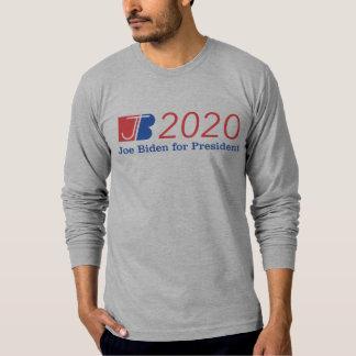 Camiseta Cinza longo da luva da nação de Biden