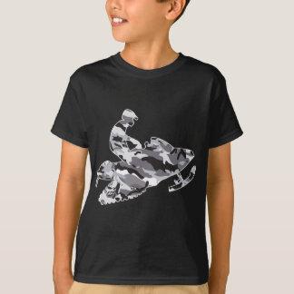 Camiseta Cinzas Snowmobiler da camuflagem