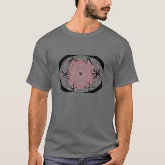 Camiseta cinzenta oval gráfica da arte