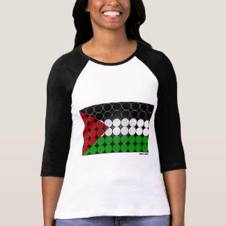 Camiseta Círculo 2 da bandeira de Palestina