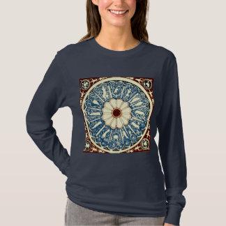 Camiseta Círculo antigo da mandala do zodíaco de Evelyn