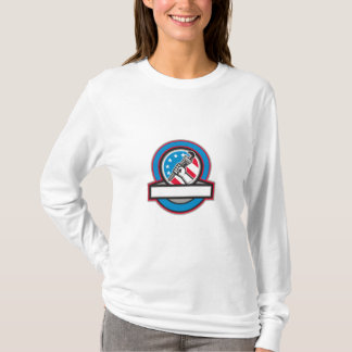 Camiseta Círculo da bandeira dos EUA da chave de tubulação