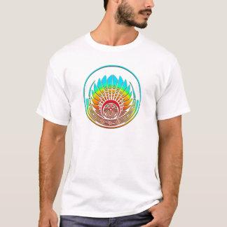 Camiseta Círculo da colheita - máscara maia - Quetzalcoatl