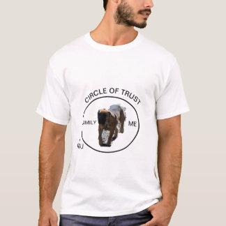 Camiseta Círculo de Boerboel do t-shirt da confiança