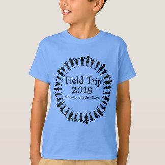 Camiseta Círculo do t-shirt da visita de estudo das