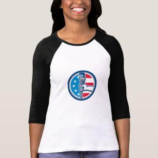 Camiseta Círculo ereto R da bandeira dos EUA da chave de