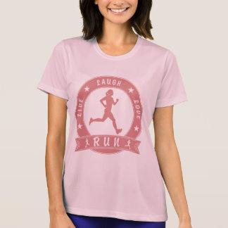 Camiseta Círculo fêmea FUNCIONADO do riso amor vivo (rosa)