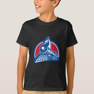 Camiseta Círculo locomotivo do cavalo de ferro retro
